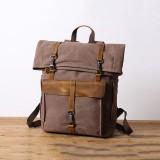 Men Retro Vintage Canvas Backpack Wear-resistant Travel Bag Backpack