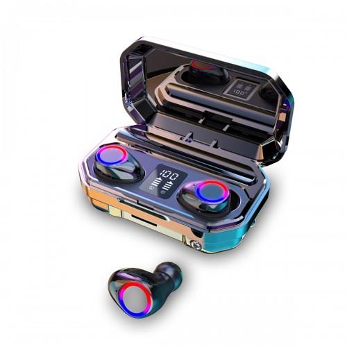 Mini Dual bluetooth LED Power Display HiFi TWS In-ear Earphone Wireless Stereo Sport Waterproof Headphones with Charging Case