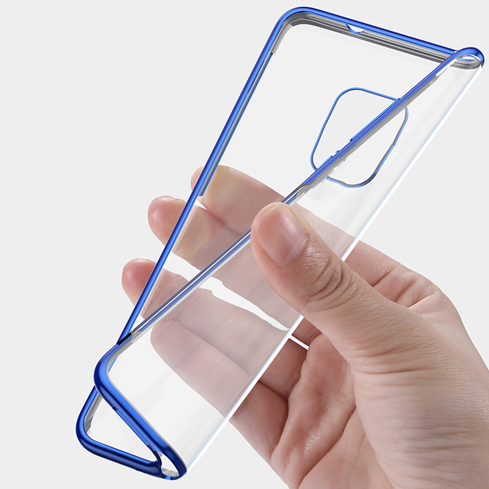 Bakeey Plating Shockproof Transparent Soft TPU Protective Case for Xiaomi Redmi Note 9S / Redmi Note 9 Pro / Redmi Note 9 Pro Max