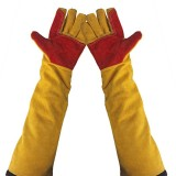 1Pair Cowhide Safety Protective Gloves Welding Wellder Work Repair Wear-Resistant
