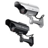 Solar Power Camera CCTV Realistic Dummy Security Cam Blinking Outdoor