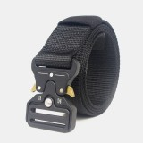 125cm 3.8cm Nylon Waist Leisure Belts Zinc Alloy Tactical Belt Inserting Buckle