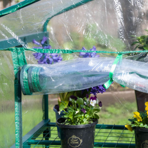 4-Tier Portable Greenhouse PVC Cover Plant Garden Green House Cover