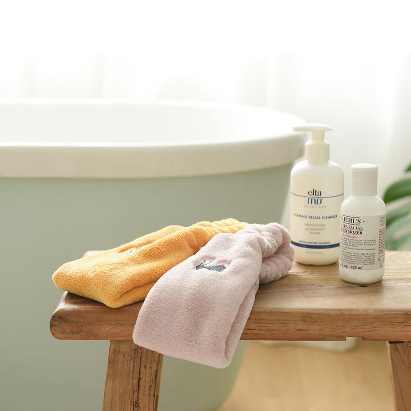 Elastic Headband Makeup Wash Face Double Coral Fleece Women's Spa Bath Shower Headwear