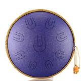 14 Inch 9 Tone D Minor Handheld Tank Drum Percussion Instrument Yoga Meditation Steel Tongue Drum Meditation