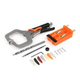 Plastic Pocket Hole Jig Set Woodworking Tools Welding C Clamp Locking Plier Tenon Locator