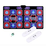 Wired Dancing Mat Pad Computer TV Slimming Dance Blanket with Two Somatosensory Gamepad a Colored Lights Version