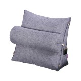 Back Triangle Wedge Backrest Cotton Cushion Fluffy Soft Bolster Bed Sofa Pillow Home Office