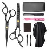 6-inch Barber Scissors Set Scissors Flat Shears Tooth Scissors Bangs Scissors Set