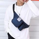 Men Casual Bottle Solid Bum Bag Sling Bag Shoulder Bag Chest Bag Waist Bag
