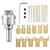 13/16/24Pcs Wooden Bead Maker Beads Drill Bit Milling Cutter Set Woodworking Tool Kit
