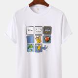 Mens Designer Print Crew Neck Shorts Sleeve Casual T-Shirts