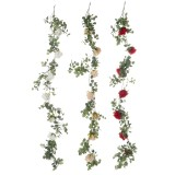 Artificial Eucalyptus Garland Hanging Rattan Wedding Greenery Home Decorations