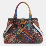 Women Genuine Leather Patchwork Tote Bag Crossbody Bag Shoulder Bag Handbag
