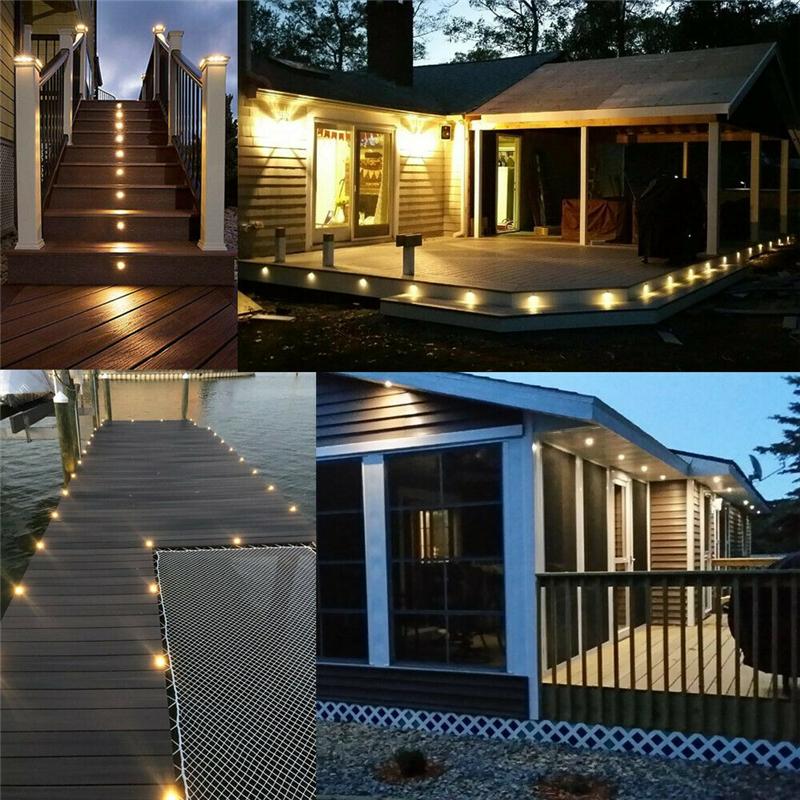 10x 32MMLED Deck Stair Light Waterproof Yard Garden Pathway Patio Landscape Lamp