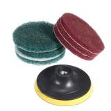 10mm Sanding Pad with 6pcs 100mm Round Fiber Polishing Pad Sanding Wheel Abrasive Tools
