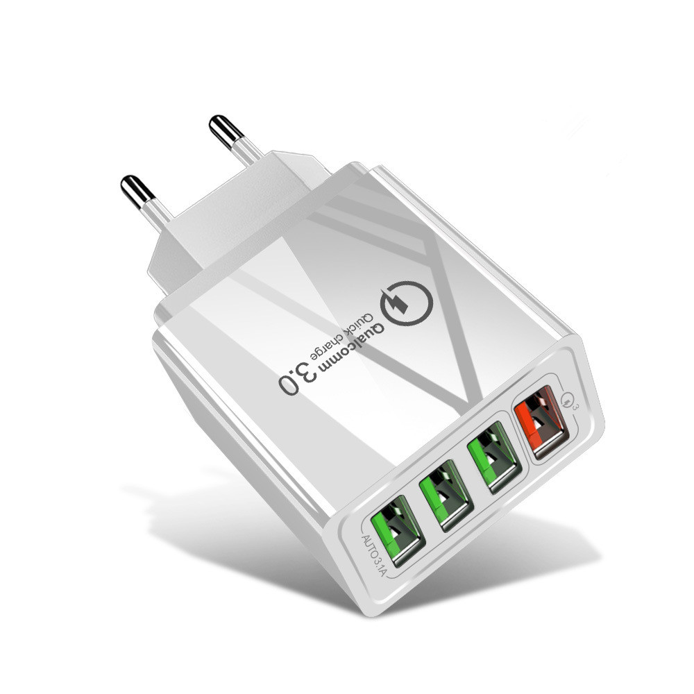 OLAF 4 Ports USB Fast Charging QC3.0 Quick Charge Power Adapter for Mobile Phone Tablet