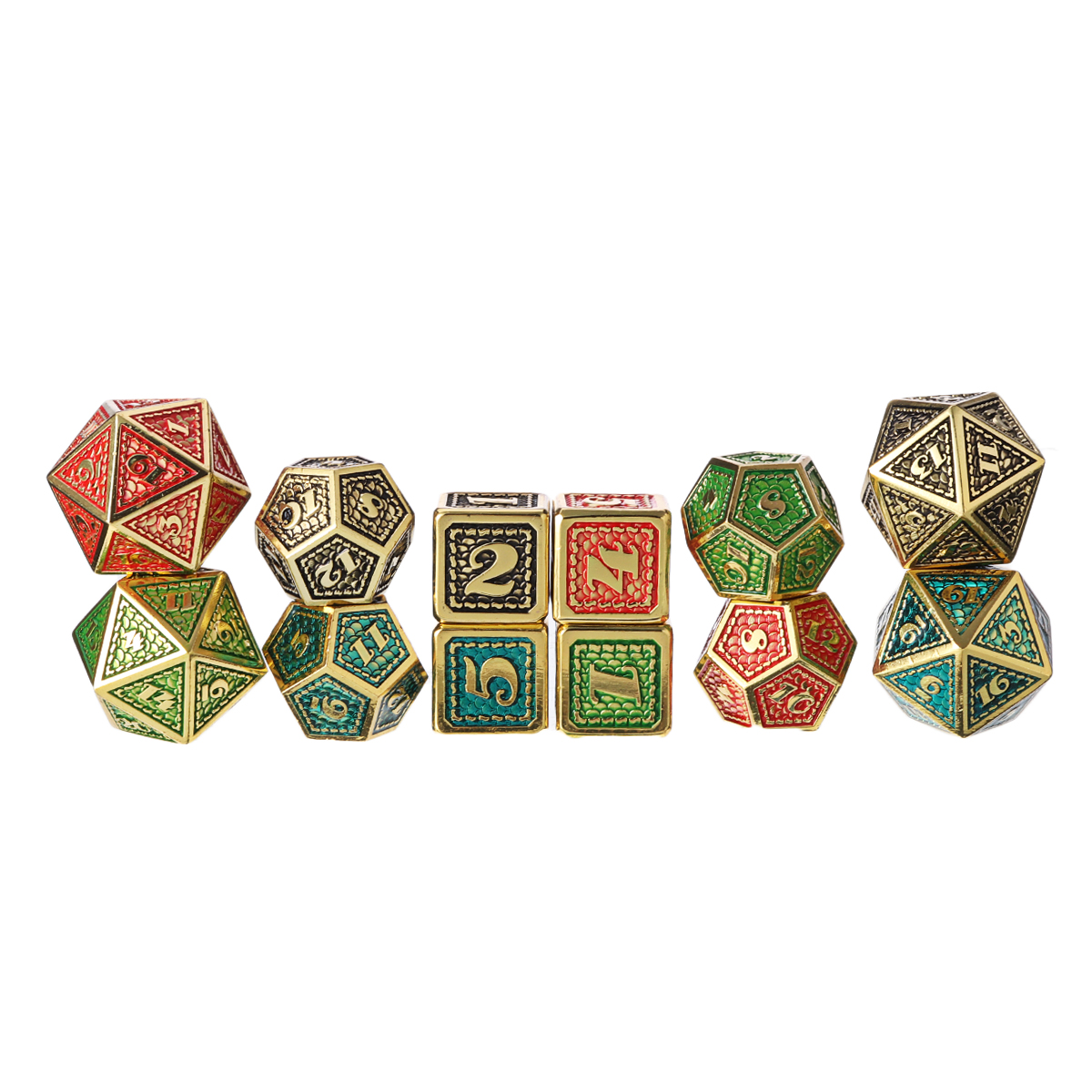 7pcs/set Metal Dice Creative Polyhedral Role Playing Table Game