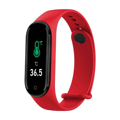 Bakeey M4 Plus Body Temperature Measure Heart Rate Blood Pressure Monitor Call ID Information Reminder Smart Watch