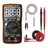 ANENG AN113D Intelligent Auto Measure True- RMS Digital Multimeter 6000 Counts Resistance Diode Continuity Tester Temperature AC/DC Voltage Current Meter Upgraded from AN8002 – Orange