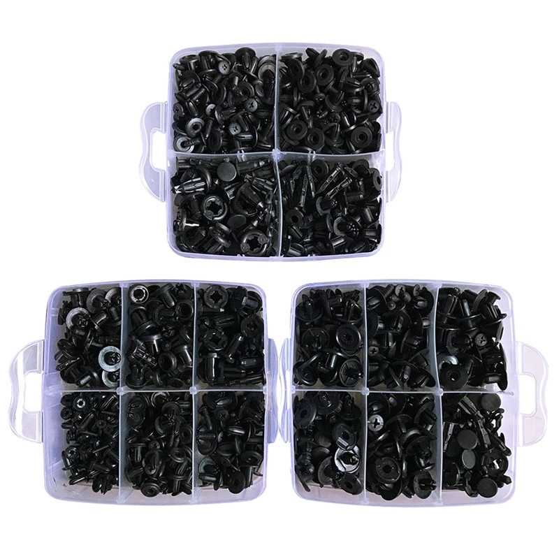 630pcs/Set Plastic Car Body Push Pin Rivets Car Bumper Repair Kits Fastener Clips Expansion Clips