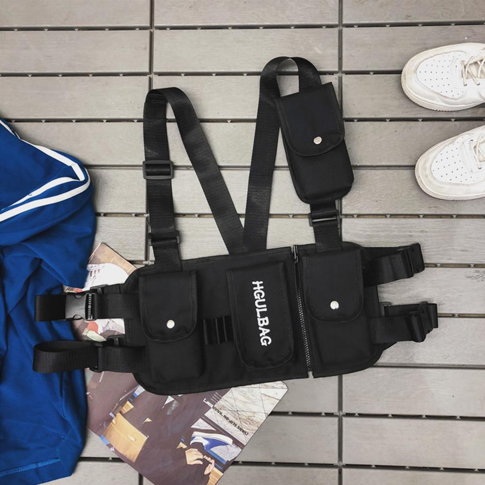 Men Women Hip-hop Chest Bag Vest Bag Tooling Bag Tactical Bag