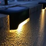LED Solar Light Outdoor Stair Step Landscape Path Deck Lamp Garden Fence IP65