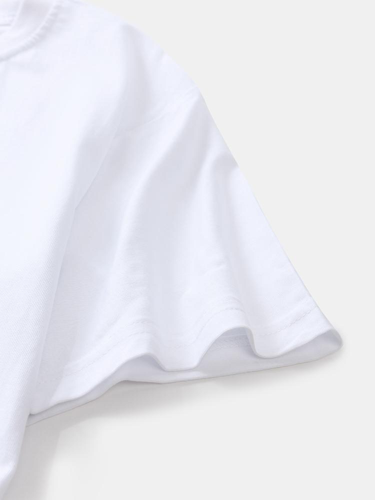 Men 100% Cotton Fun Surfing Avocado Printed Breathable Short Sleeve T-Shirts