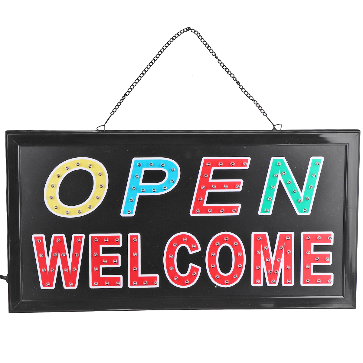 LED OPEN WELCOME Sign Board Cafe Bar Advertising Light Shop Hotel Hang Bar Decor