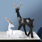 Geometry Deer Reindeer Craft Home Party Decor Xmas Elk Resin Ornaments