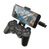 DATA FROG 208 Wireless Bluetooth 2.4G Gamepad Ergonomic Joystick Game Controller for PS3 Android Phone TV Box