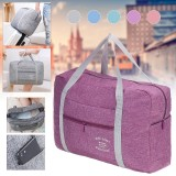 Oxford Cloth 40x30x13cm Foldable Travel Storage Bag Waterproof Luggage Bag Hand Shoulder Bag Carry Duffle Tote