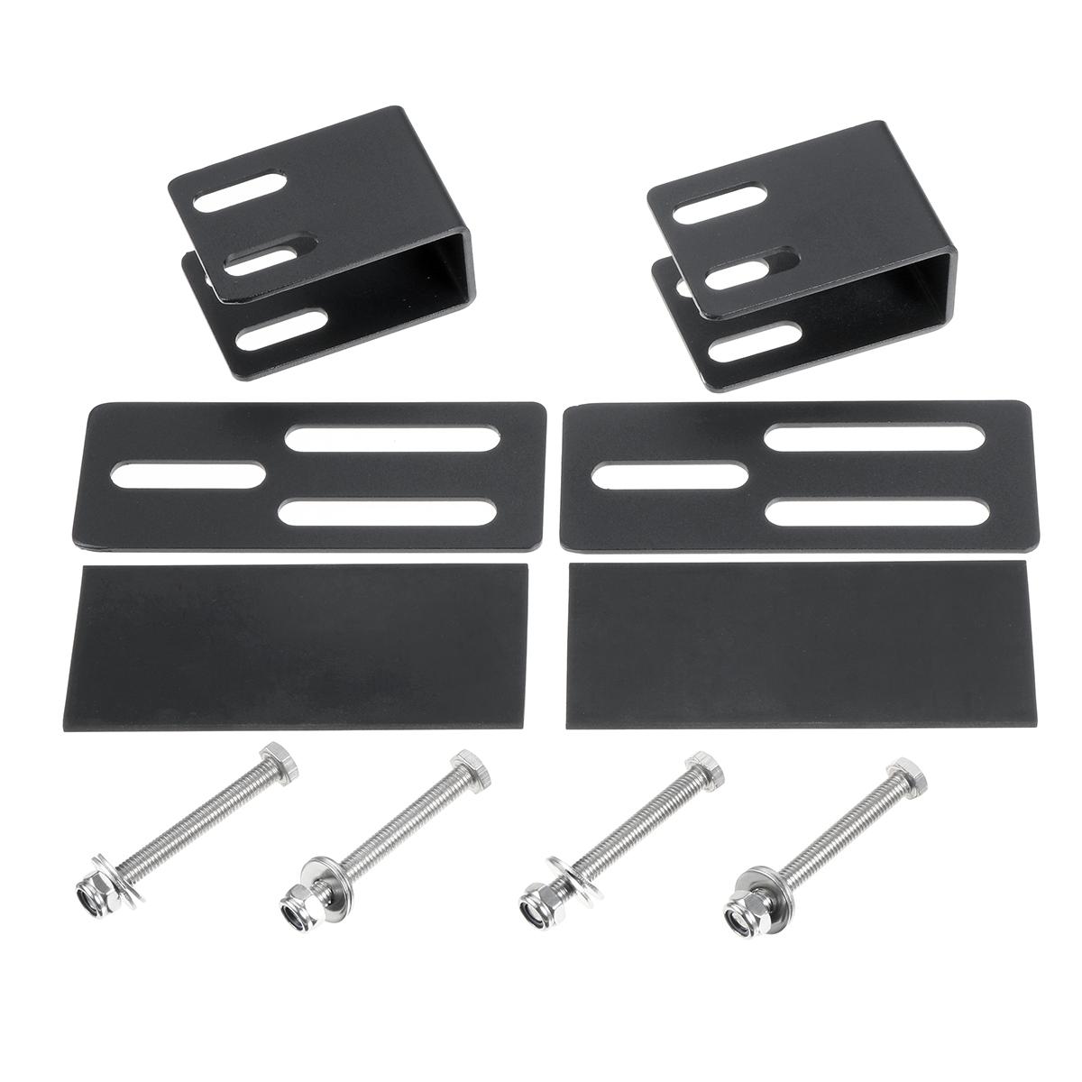 2x Car SUV Roof Rack Light Bracket Holder Bumper Mounting Kit for Work Light Bar