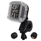 TP999 Wireless Motorcycle TPMS LCD Display Waterproof Tire Pressure Monitoring System Temperature