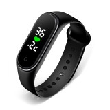 Bakeey M5 Real-time Body Temperature Detection Time Display Smart Watch Wristband