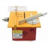 T60 DC 12-24vDC Mini Table Saw DIY Woodworking Saw Table Cutter Small Chainsaw 9000r / min