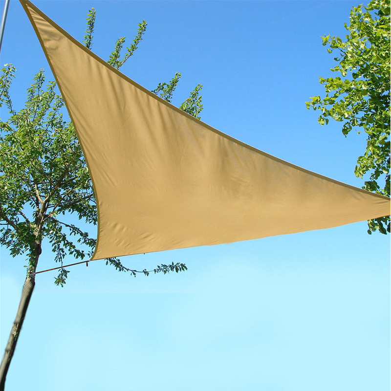 3x3x3m Triangle Tent Sunshade Sail Waterproof 90% UV Sun Canopy Camping Patio Garden Awning Tent Sunshade