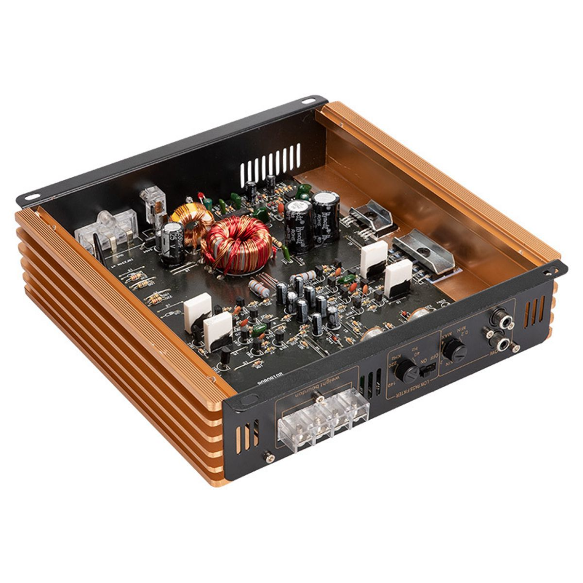 N338 2200W Car Stereo Audio Power Amplifier 2 Channel Class A/B Subwoofer Stereo Surround
