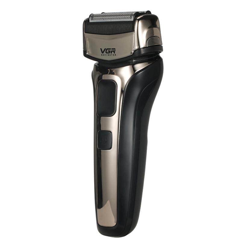 VGR Professional Shaver 3 Blade Shaper Barber Electric Shaver Wet Dry Electric Razor For Men Rechargeable Shaving Machine V-303 EU Plug