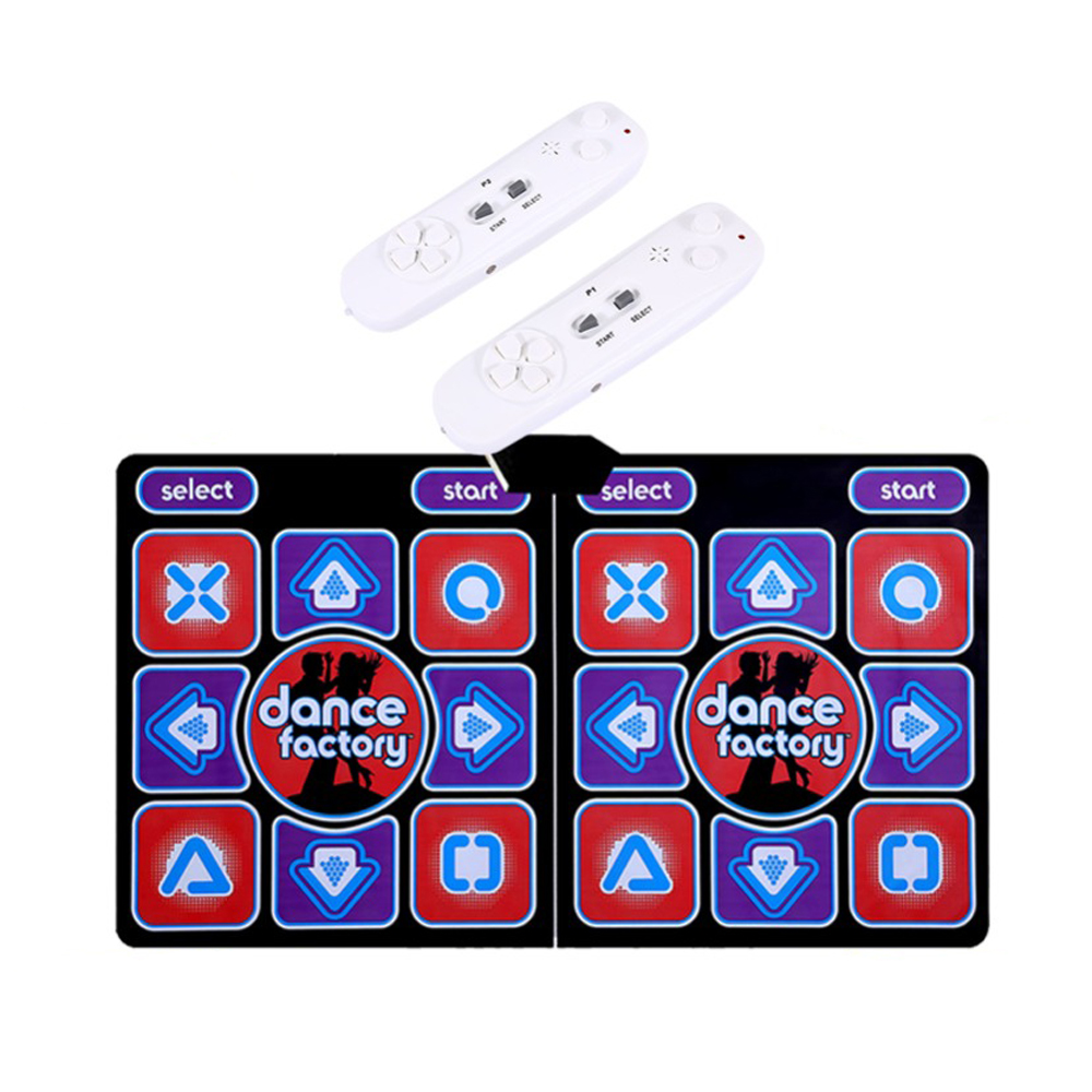 Wired Dancing Mat Pad Computer TV Slimming Blanket with Somatosensory Gamepad Massage Version