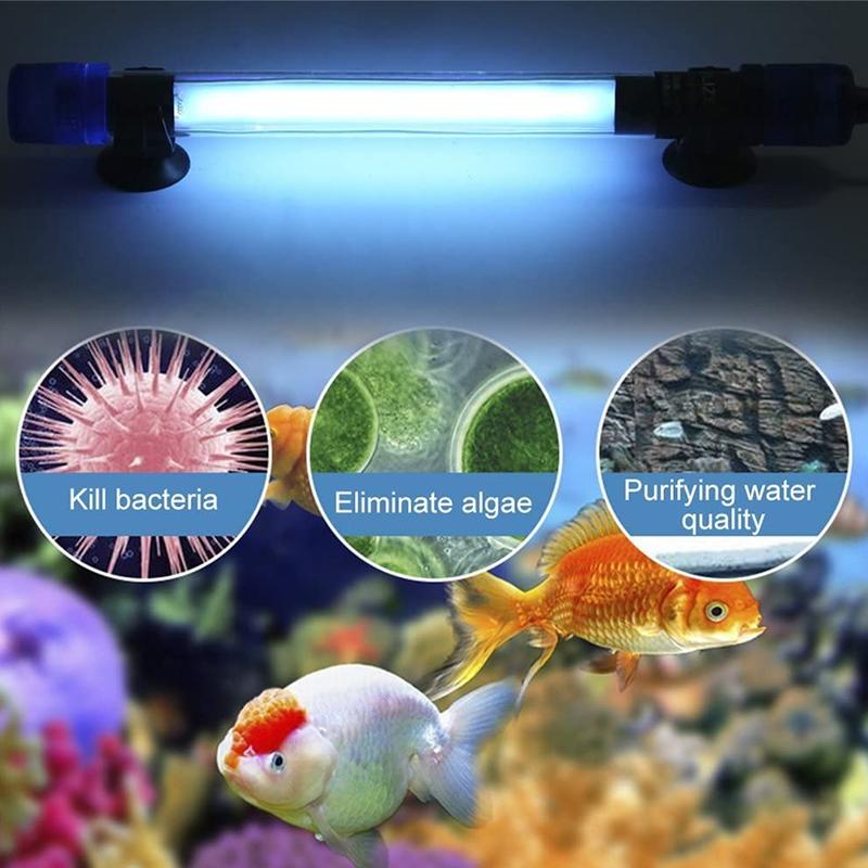 220V Portable Fish Tank Uv Sterilizer Wand Ultraviolet Light Aquarium Algae Removal