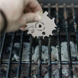5 In 1 Portable Stainless Steel Grill Scraper Eagle Cleaning Blade with Grill Scraper Letters BBQ Accessories