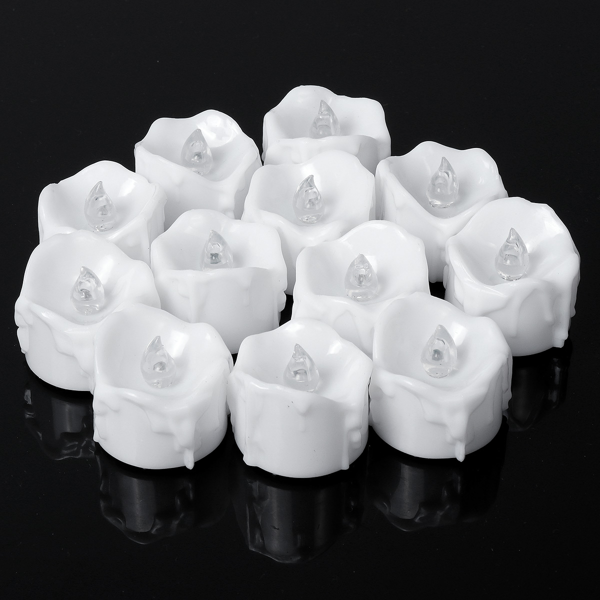 12x Flameless Votive Candles Battery Operated Flickering LED Tealight Tea Lights