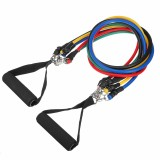 11pcs Pull Rope Resistance Bands Latex Tube Body Training Yoga Fitness Exercises Tools