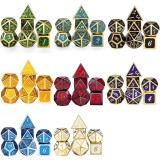 7 Pcs/Set Metal Dice Set Role Playing Dragons Table Board Game Toys With Cloth Bag Bar Party Game Dice