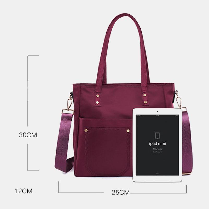 Light Weight Large Capacity Nylon Waterproof Handbag Shoulder Bag Crossbody Bag For Women