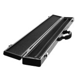 1/2″ Pool Cue Hard Case For Pool Snooker Billiard Box 85cm/33.5 PU Leather Black