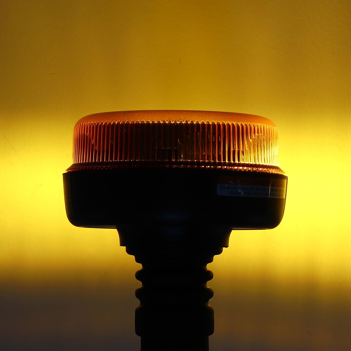12V 24V E9 LED Rotating Flashing Beacon Flexible DIN Pole Tractor Warning Light