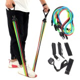 11Pcs/Set Fitness Resistance Bands Yoga Gym Stretch Pull Rope Exercise Training Expander