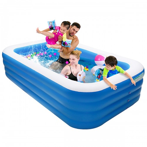 IPRee 305*185*72cm Inflatable Swimming Pool Outdoor Garden Swimming Pool Portable Inflatable Pool